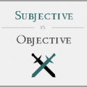 difference between subjective and objective