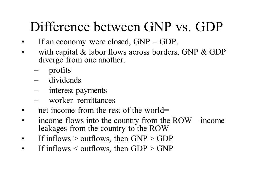 what is the difference between gdp and gnp