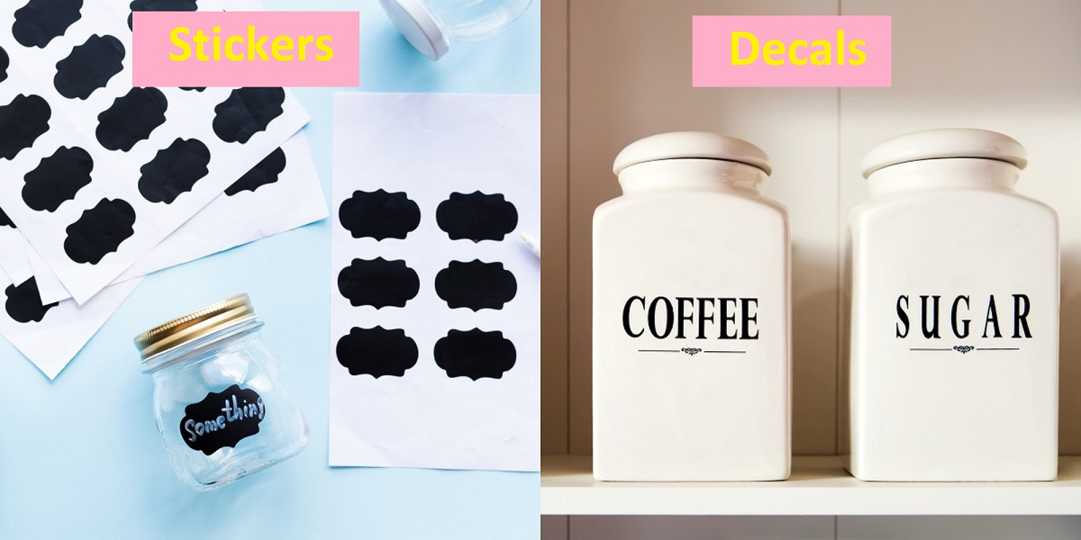 Difference Between Decal And Sticker