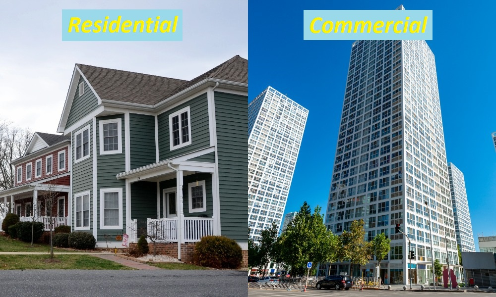 Difference Between Residential and Commercial Real Estate