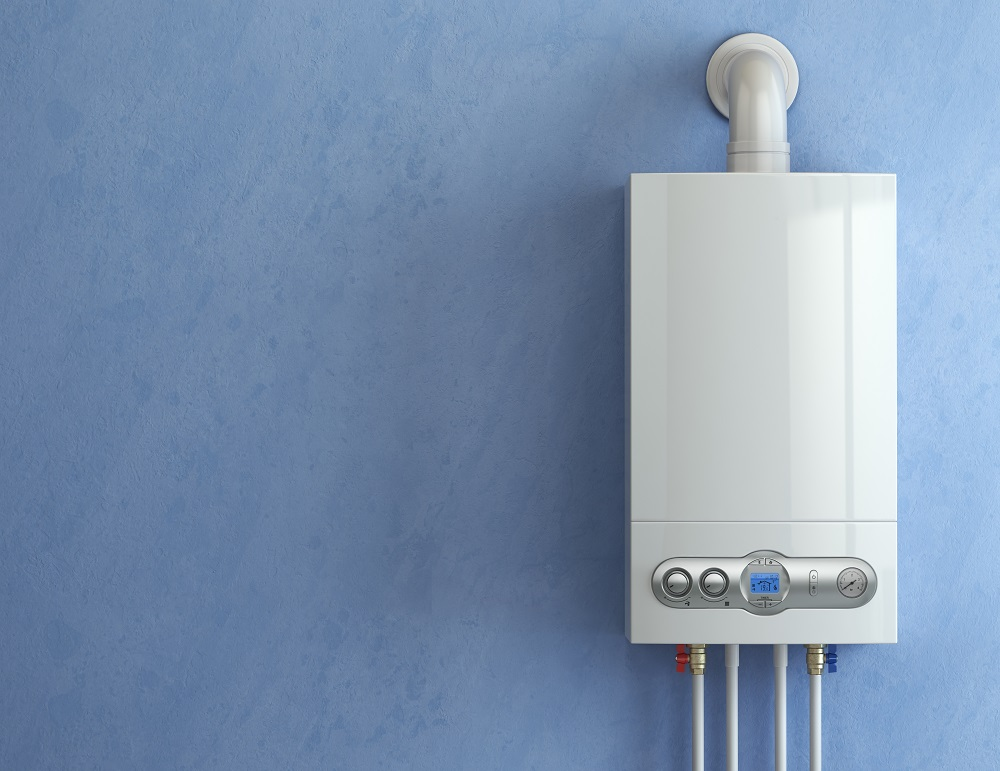 Gas boiler for home heating