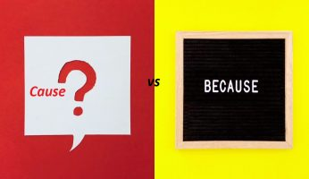 Difference Between Cause and Because