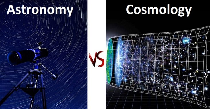 difference between astronomy and cosmology