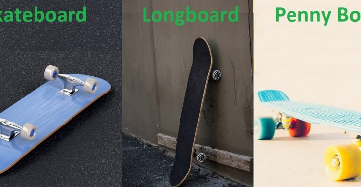 difference between skateboard, longboard and penny board