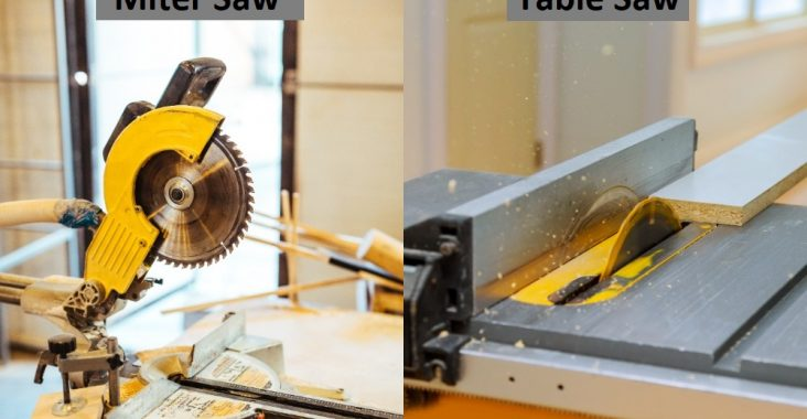 Differences Between Miter Saw and Table Saw