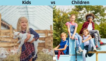 Difference between Kids and Children