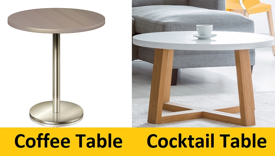 cocktail table vs. coffee table