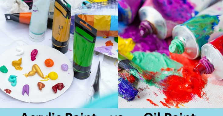 difference between acrylic & oil paint