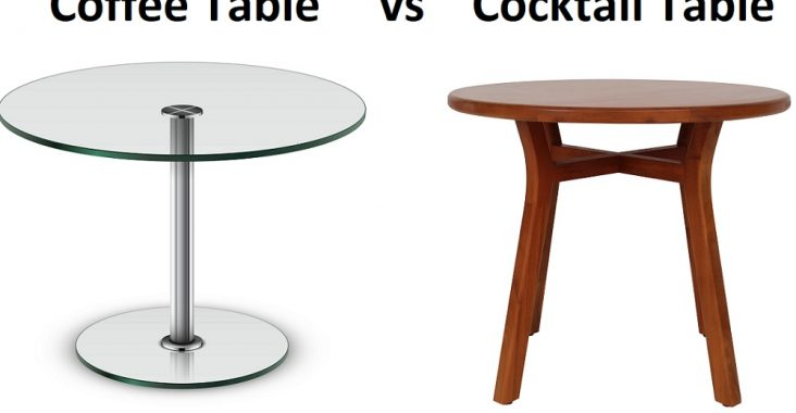 difference between cocktail table and coffee table