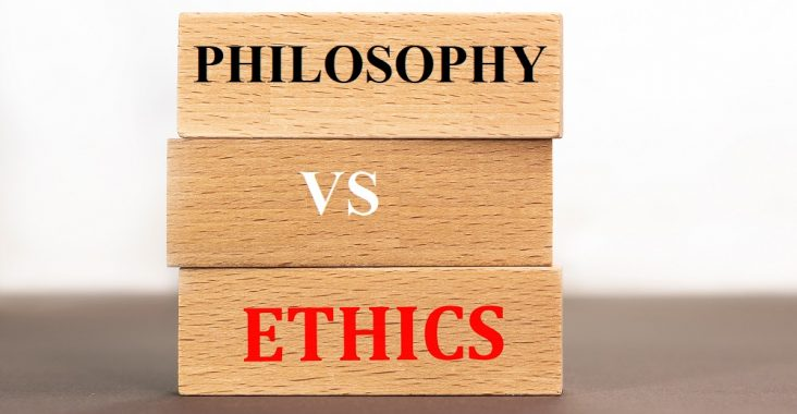 difference between ethics and philosophy