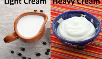 difference between light cream and heavy cream