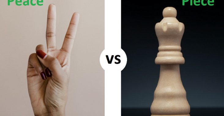 difference between peace and piece
