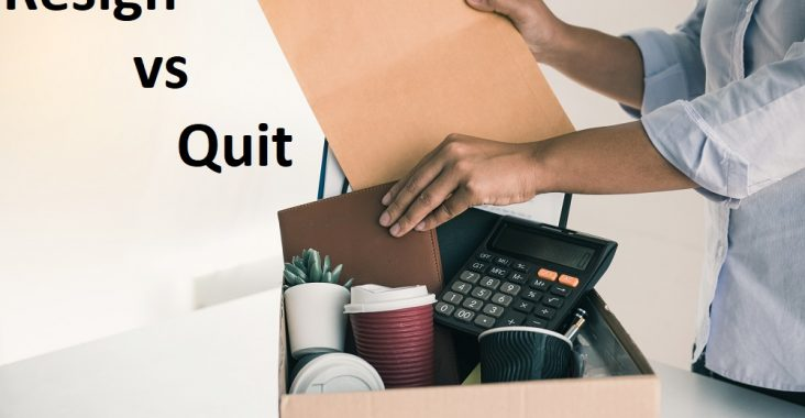 difference between resign and quit