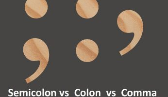 difference between semicolon colon and comma