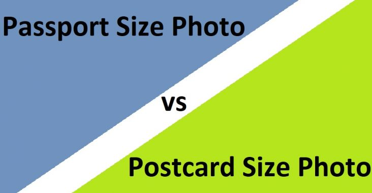 difference between passport size photo and postcard size photo