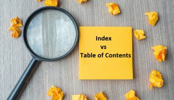 difference between Index and table of contents